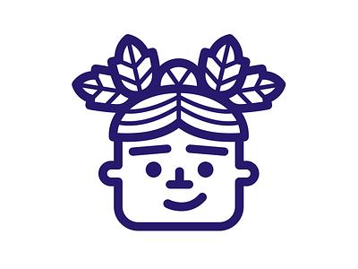 Happy Plantmas self-portrait character plant lineart illustration icon christmas
