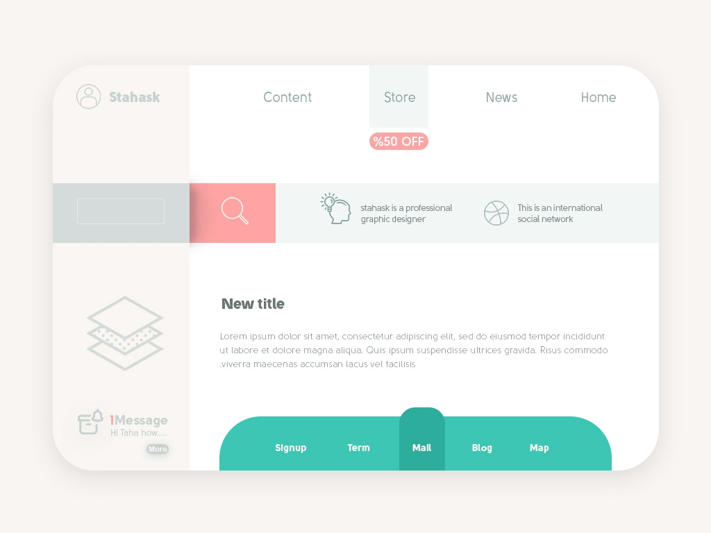 Personal blog homepage blog blog design product design web landingpage design