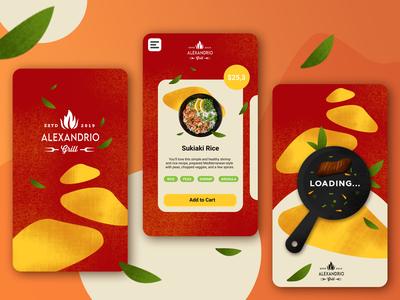Grill Restaurant Food Mobile App figma ui web design uiux photoshop illustrations illustration illustrate homepage dailyui