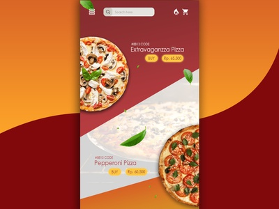 UI DESIGN : Pizza App ios figmadesign landingpage figma web design uiux ui illustration illustrate dailyui