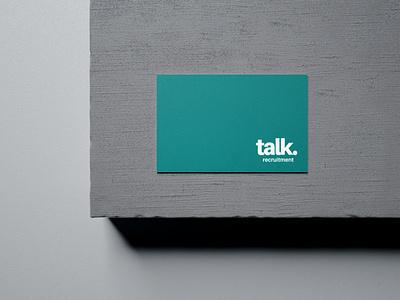 Talk Recruitment Business Card Design business card design business card template card design business card typography vector logo branding skyrocket skyrocket new zealand skyrocket design studio design