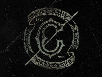 C Monogram brand lettering type mark flag logotype monogram
