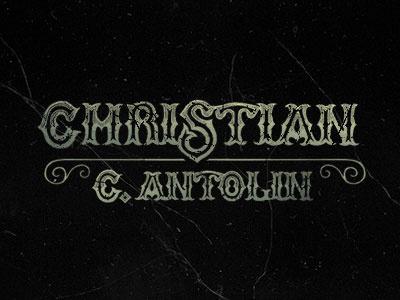 Christian C. Antolin lettering type typograhy logotype mark brand