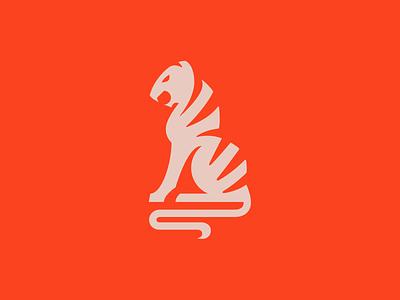 Tiger Logo orange tiger branding brand illustration logo logotype