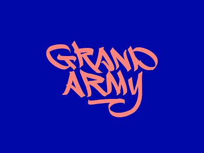 Grand Army Logo branding design illustration brand typography logotype lettering type logo