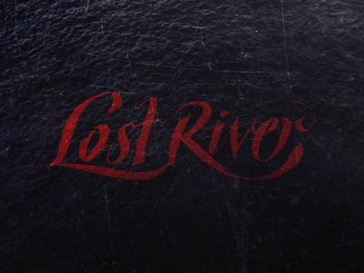 Lost River water river lost lettering typography type logotype logo