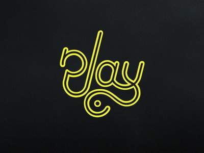 Play yellow play lettering typography type logotype logo