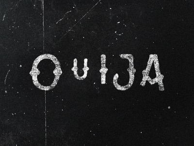 Ouija black ouija lettering typography type logotype logo