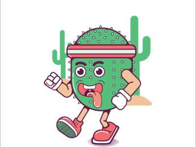 Cactus character design