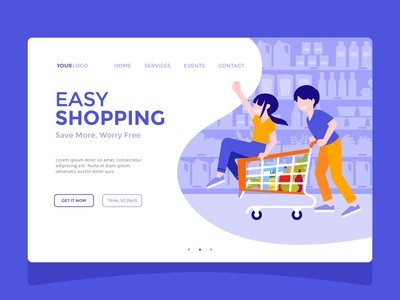 Easy Shopping — Landing Page
