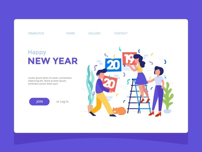 Happy New Year Landing Page