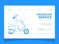 Scooter Girl — Landing Page