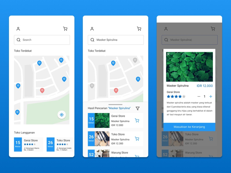 Nearby Store app illustration ux ui