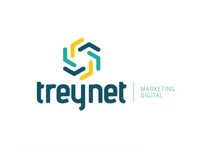 Rebranding Treynet logomarca marca agencia rebranding flat icon logo