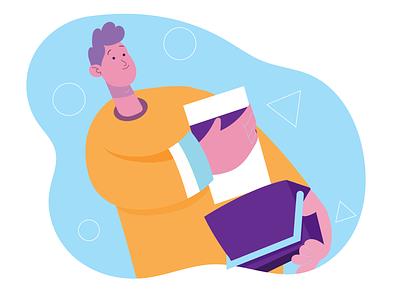 """""""Add to cart"""" flatdesign characterdesign illustration illustrator"""