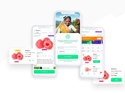 E-commerce app farm green color figma design ui design