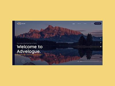 Advelogue Website Interface webdesign figma uiuxdesign uiux uidesigner uidesign