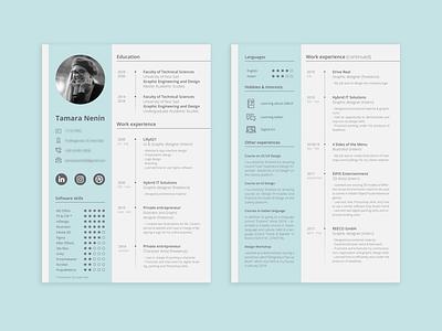 CV Design job application graphicdesign resume template resume design resume cv template cv design cv