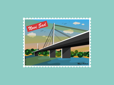 Post stamp flat illustration adobe illustrator vector illustration post stamp