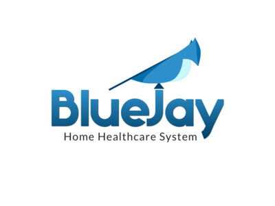 BlueJay Home Healthcare Logo blue logo
