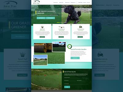 Home Page Concept website design marketing