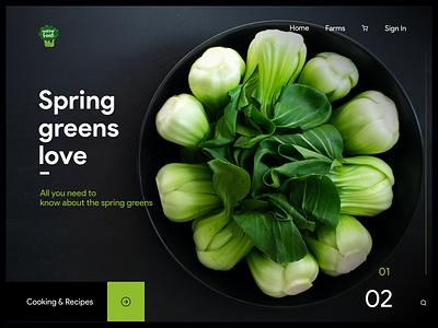 Landing page banner design