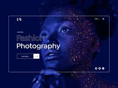 Photography Website Banner image! website design website web branding design ux ui design typography branding
