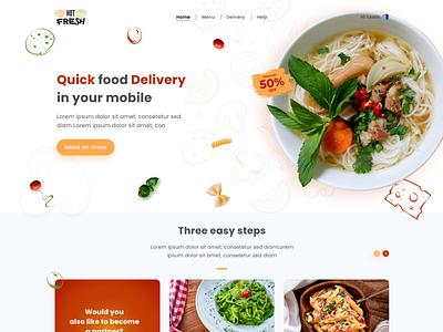 Food order webpage ui landing page ui landingpage ux ui