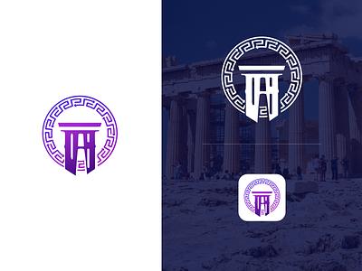 Aaron - Ancient Egyptian Market Logo flat icon logo illustration branding design app branding ux design ui