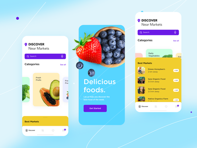 Online Organic Food App Ui application foodonline organicfood app design appui icon app branding design ux ui