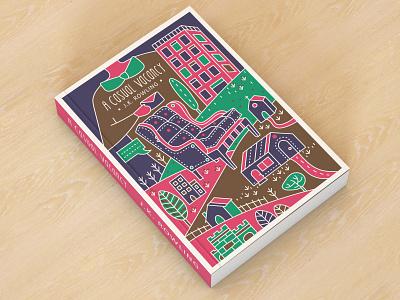 Book Cover - A Casual Vacancy - JK Rowling ui brand identity brand design design procreate green pink illustration illustrator graphic design drawing concept clean branding blue artwork art animal adobe photoshop adobe illustrator
