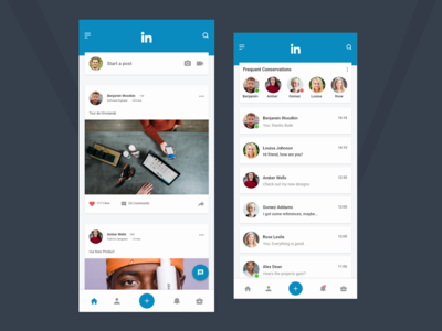 LinkedIn Redesign Concept with Adobe Xd