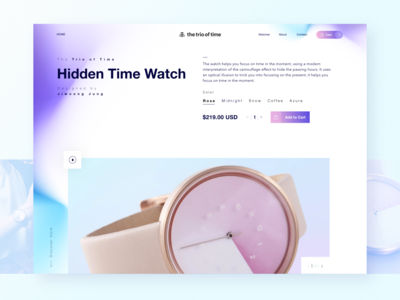 Hidden Time Landing page