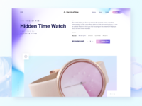 Hidden Time Landing page