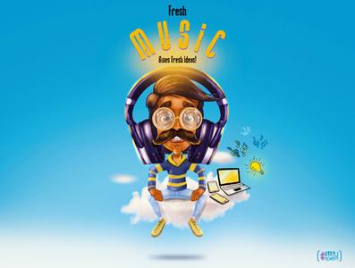 Fresh MUSIC!!!! debut dribbble drawing digital design art desktop graphic design designerlife designers icon brush illustrator artwork graphicdesign designer illustration brand vector branding design