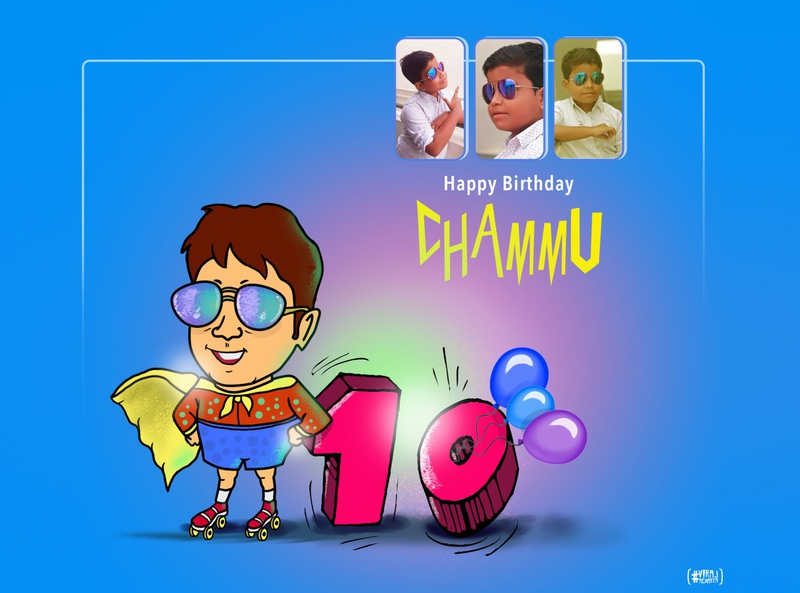 Chammu 10th Birthday graphic design brush illustrator artwork graphicdesign designer illustration vector brand branding design