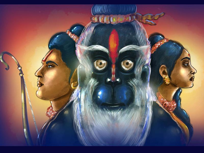Ramayana photoshop ipad procreateapp procreate brushes procreate art sketches artworking artworks art designer illustration brand vector branding design