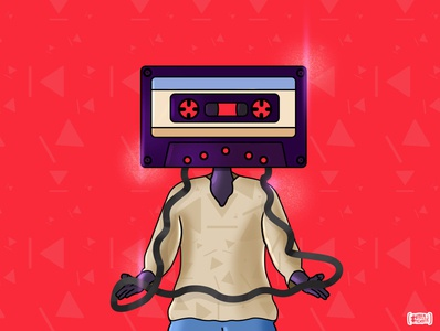 Kya Set.... designer portfolio design art retro tape recorder retro design cassette player cassette retro brush illustrator artwork graphicdesign illustration designer vector brand branding design