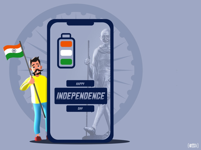India Independence Day 2020 designers concept art artwork independenceday india illustration designer vector brand branding design