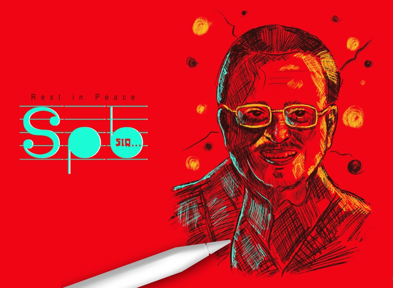 RIP SPB Sir brush illustrator artwork graphicdesign illustration vector designer brand branding design