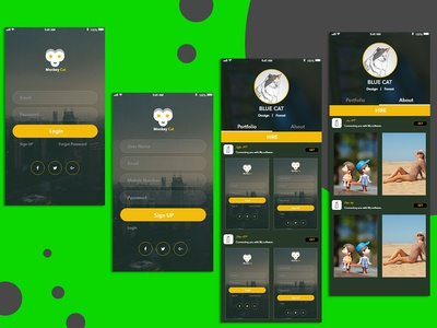 Mobile UI Wireframe Design