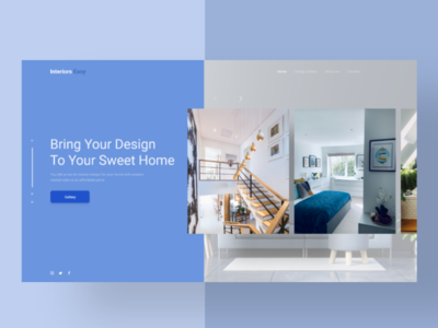Interiors Easy web website flat minimal ux ui design