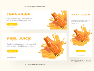 Web Banners for Feel Juice banner design banner ad banners flat minimal design