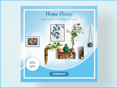 Home Decor Instagram Banner figma photoshop banner ad minimal design vector
