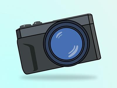 Cameraa Illustration flat illustrator illustration minimal vector