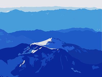 Blue Mountain illustrator illustration flat vector design
