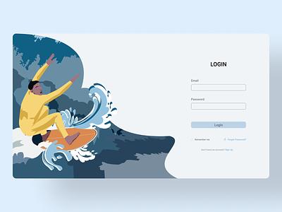 Login Page web website figma ux ui illustration flat minimal vector design