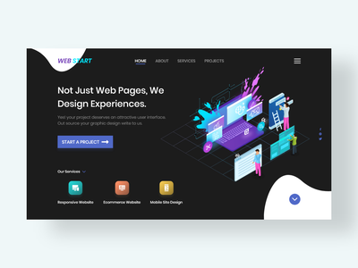 Web Start adobe xd web landing page ux ui design