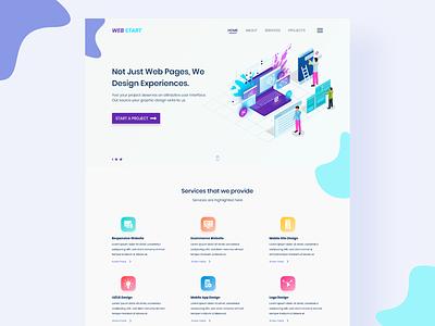 Web Start adobe xd web website ux ui minimal flat design