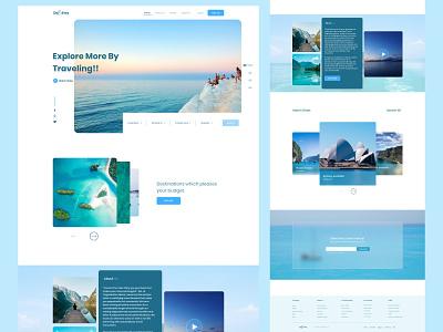 Destiny Travel Website glassmorphism web figma website ux ui minimal design